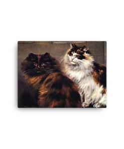 Tortoiseshell Persian cats, after a painting by William Luker (1862-1934) Print, posters at The Great Cat Store