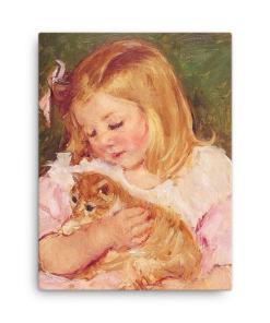 Mary Cassatt Cat Art Print at The Great Cat Store, Mary Cassatt Cat Art, Girls and Cats-Kittens