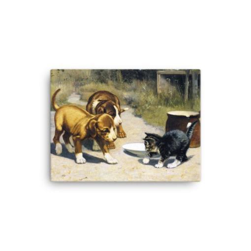 John Henry Dolph: Courage, 19th Century, Canvas Cat Art Print