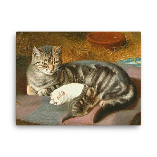 Horatio Henry Couldery: The Unexpected Guest, 1894, Canvas Cat Art Print, 18×24