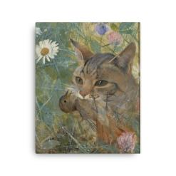 Bruno Liljefors: Cat with a Bird in its Mouth, 1885, Canvas Cat Art Print