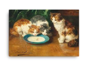Alfred Brunel de Neuville: What's that then?, Before 1941, Canvas Cat Art Print, 18x24