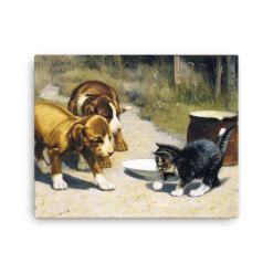 John Henry Dolph: Courage, 19th Century, Canvas Cat Art Print