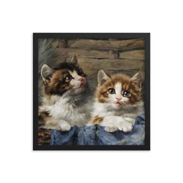 Julius Adam: Two Kittens, 1913, 12×12