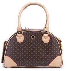 Leather Cat Carrier Travel Handbag