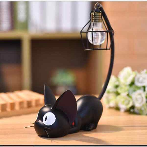 Mini Black Cat Night Light – Pattern 1
