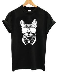 Women's Girl's Cat Design Short Sleeve T-Shirt