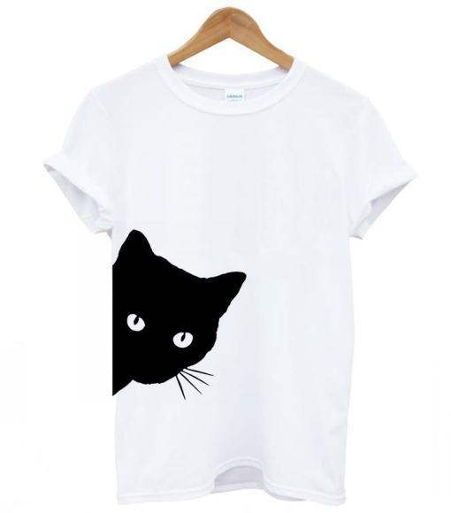 Black Cat Design Women's Cotton Hipster T-Shirt
