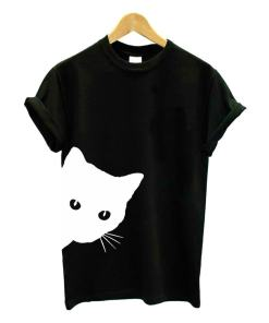 Black Cat Design Women's Cotton Hipster T-Shirt