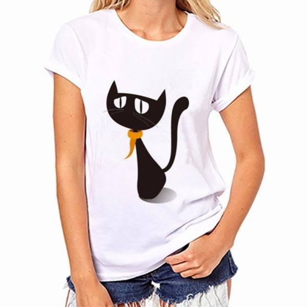 005-Black Cat, Halloween Variety Women's T-Shirt – Womens T Shirt