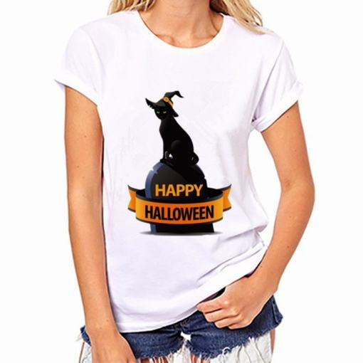 Black Cat, Halloween Variety Women's T-Shirt - Womens T Shirt 006