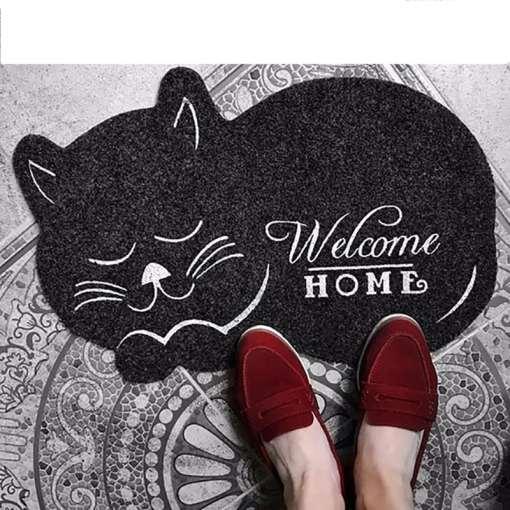 Cat Shaped Anti-Slip Floor-Door Mat