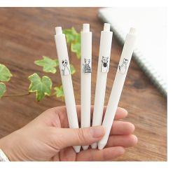 Cat Design Ballpoint Gel Pen 6 pcs