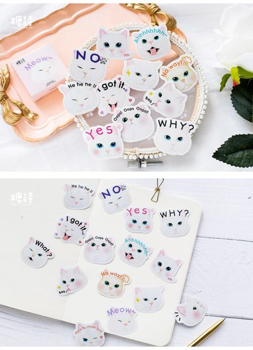 Fat Cat Memo Pad Stickers 40pc Set
