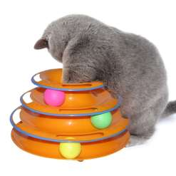Crazy Ball Disk Interactive Cat Toy at The Great Cat Store