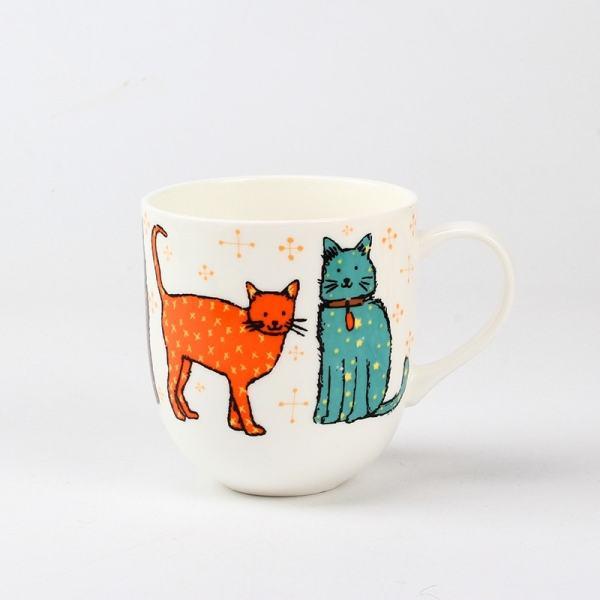 British Bone China Cat Design Tea Coffee Set