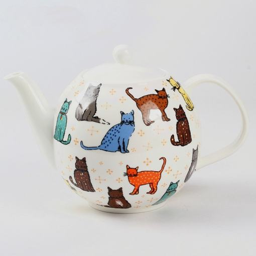 British Bone China Cat Design Tea Coffee Set
