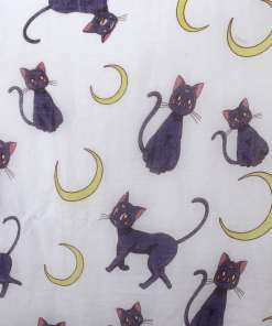 Black Cat and Moon Large Scarf Shawl at the Great Cat Store