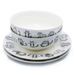 Cute Ceramic Cat Designed Dinner Dish Set at The Great Cat Store