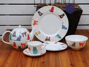 British Bone China Cat Design Tea Coffee Set at The Great Cat Store
