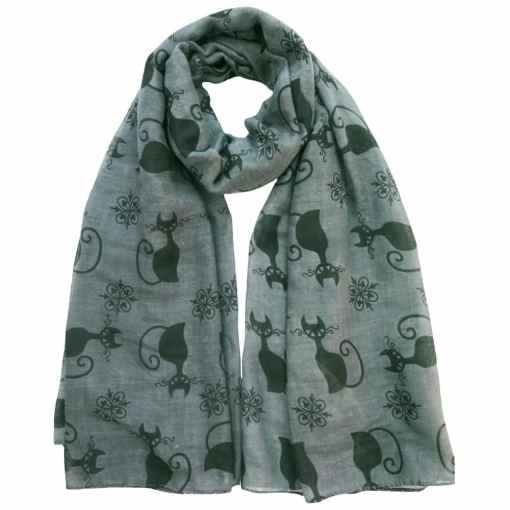 Black Cat Kitten Print Scarf at The Great Cat Store
