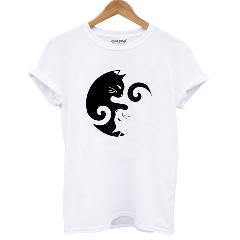 Cat Design 100% Cotton T-Shirt