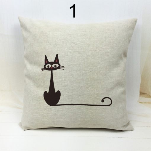 Black Cat Decorative Throw Pillow Covers at The Great Cat Store