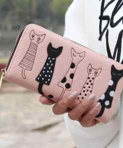 Luxury Cat Design Long Wallet at The Great Cat Store