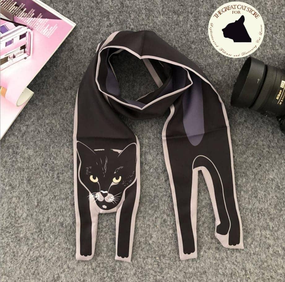 Three Dimensional Cat Silk Scarf