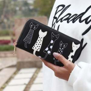 Luxury Cat Design Long Wallet