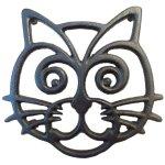 Cat Trivet - Black Cast Iron