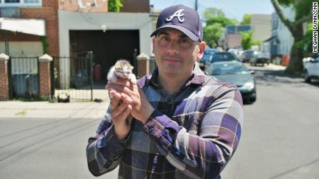 Paul Santell with Kitten