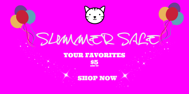 summer sale at The Great Cat Store