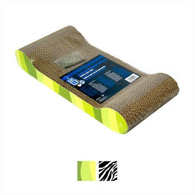 Catit Lounge Scratcher with Catnip, Jungle Stripes