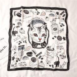 Silk Square Cat Scarf