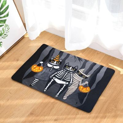 Halloween Cat Anti Slip Floor Mats