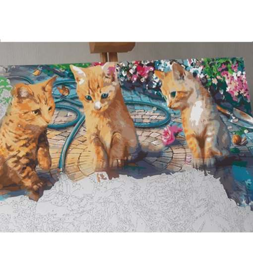 Kitten Attitude Paint by Numbers Set
