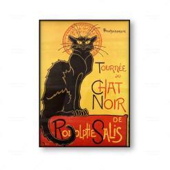 Theophile Alexandre Steinlen: Le Chat Noir The Black Cat Unframed Canvas Print