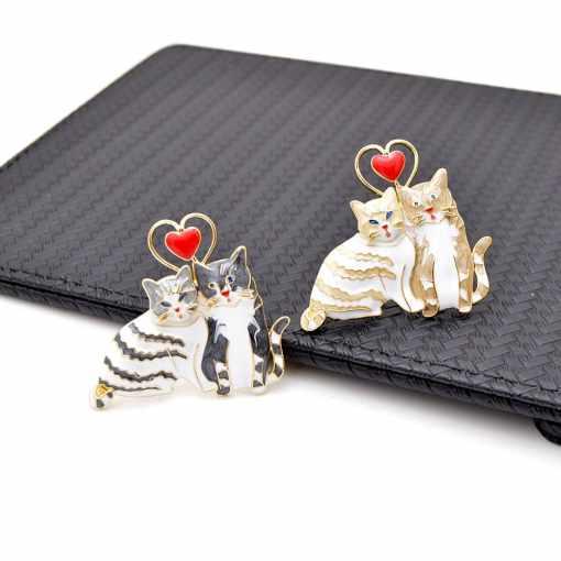 Valentine's Day Cat Love Pin