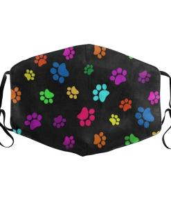 Colorful Paw Design Cat Themed Face Mask