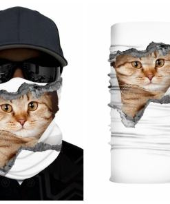 Cute Cat Face Mask Neck Gaiters