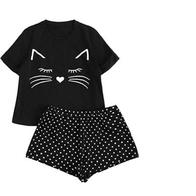 Cute Cat Themed Pajama Set