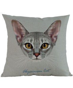 Abyssinian cat cushion