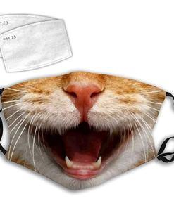 Happy Cat Face Mask