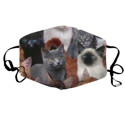Cute Kitten Design Cat Face Mask