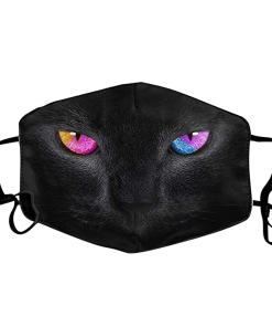 Reusable Black Cat Face Mask