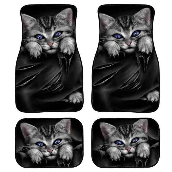 Cat Themed Car Floor Mats