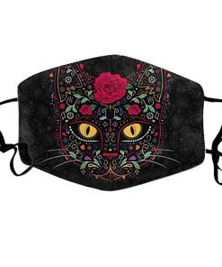 Washable Reusable Cat Print Face Mask
