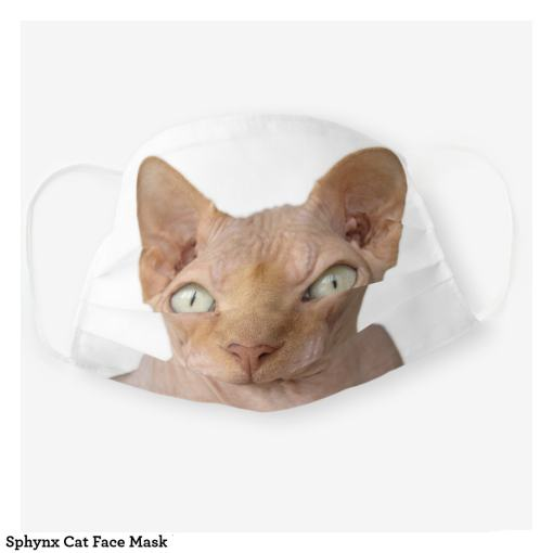Sphinx Cat Face Mask, Front