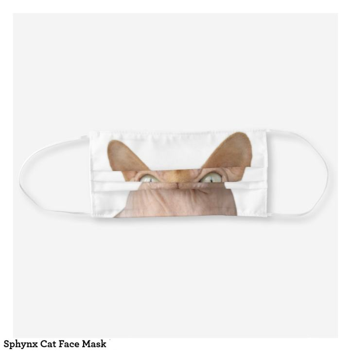 Sphinx Cat Face Mask, Folded